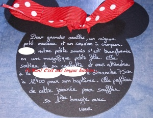 Faire part Minnie 2