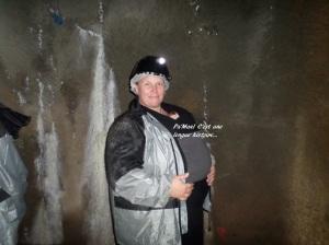 Zébulette lors de la visite de la mine :-)